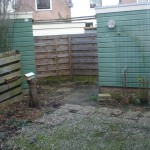 Originele achtertuin Leiden
