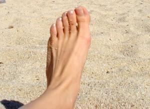 Blote voet strand