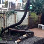 Nieuw terras en stapelmuurtje