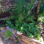 Verhoogde border met plantjes
